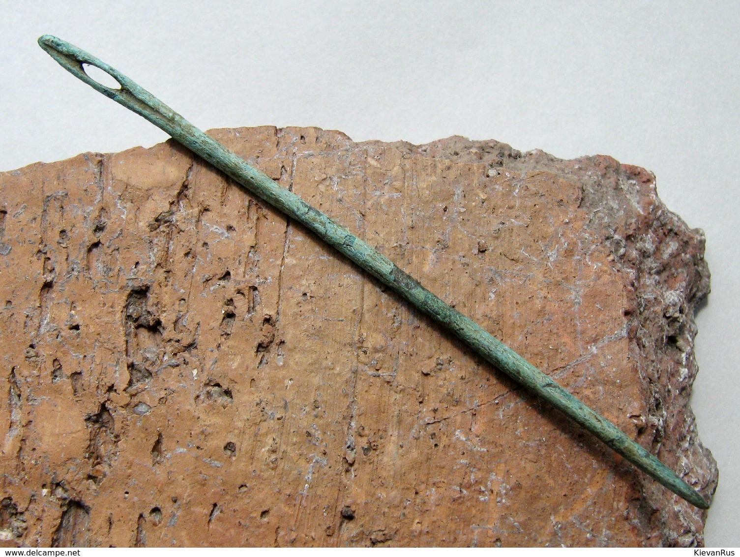 Ancient Vikings Bronze Needle 9-12 Century - Archéologie