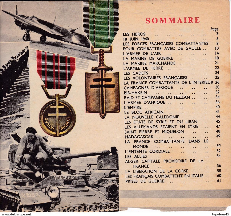 Livre Au Service De La France 1940/1944 (64 Pages 24 X 18) - Documents
