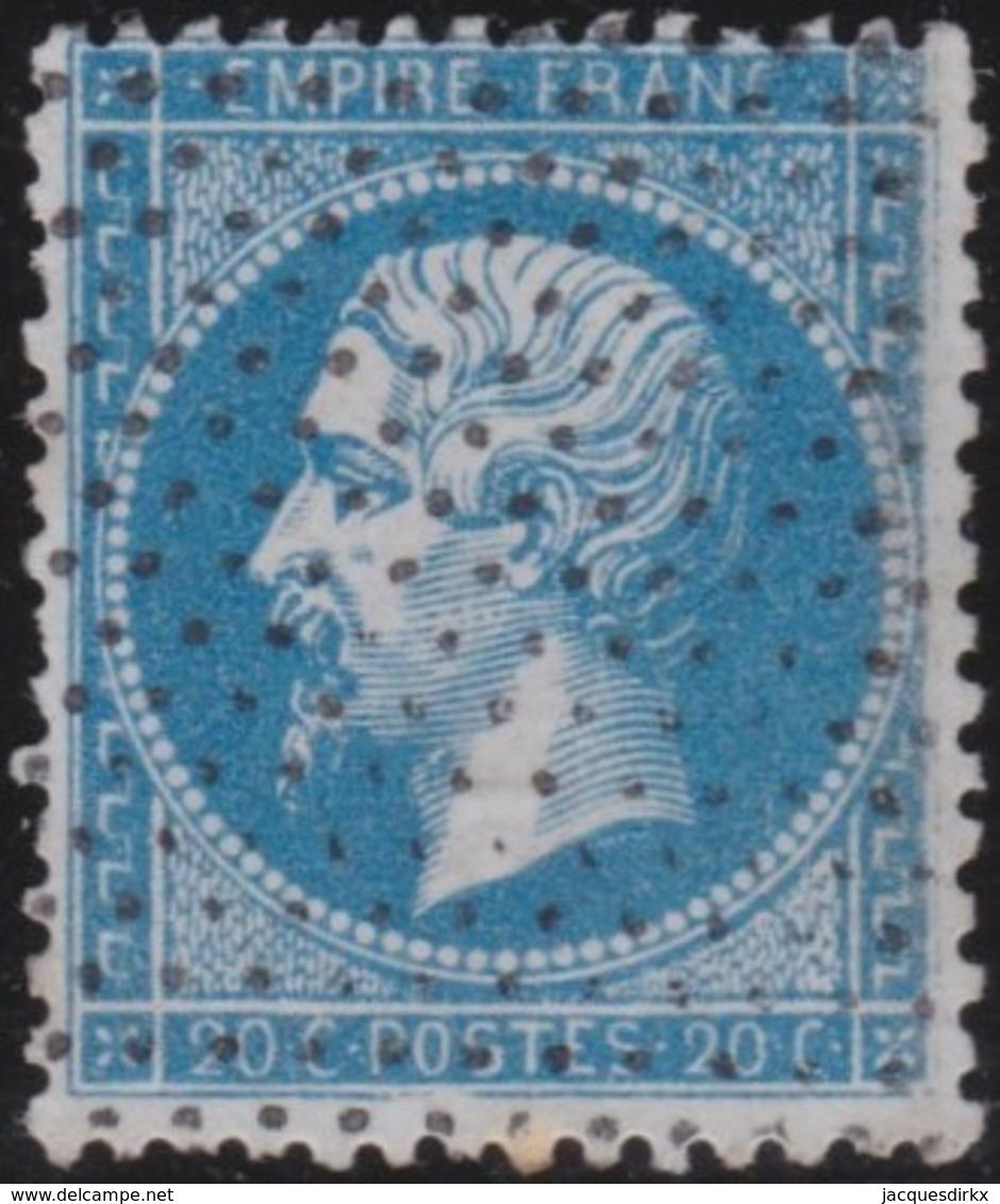 France  .   Yvert    .    22          .   O    .    Oblitéré   .   /   .    Cancelled - 1862 Napoléon III