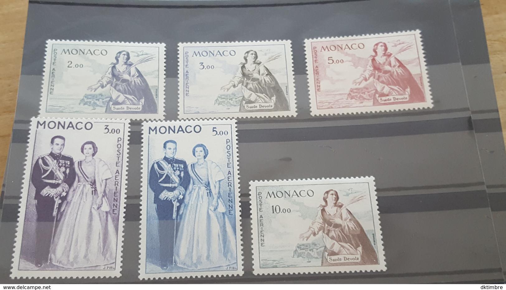 LOT 460859 TIMBRE DE MONACO NEUF** LUXE N°73 A 78 - Poste Aérienne