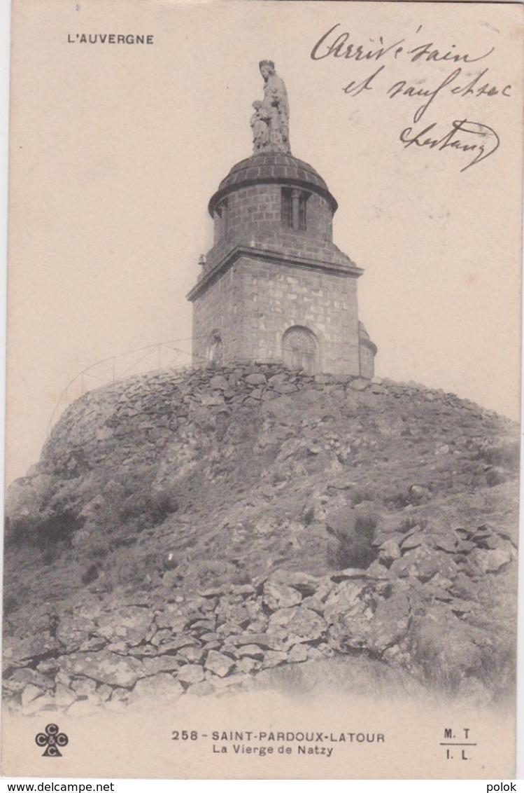 Bu - Cpa SAINT PARDOUX - LATOUR - La Vierge De Natzy (MTIL) - France