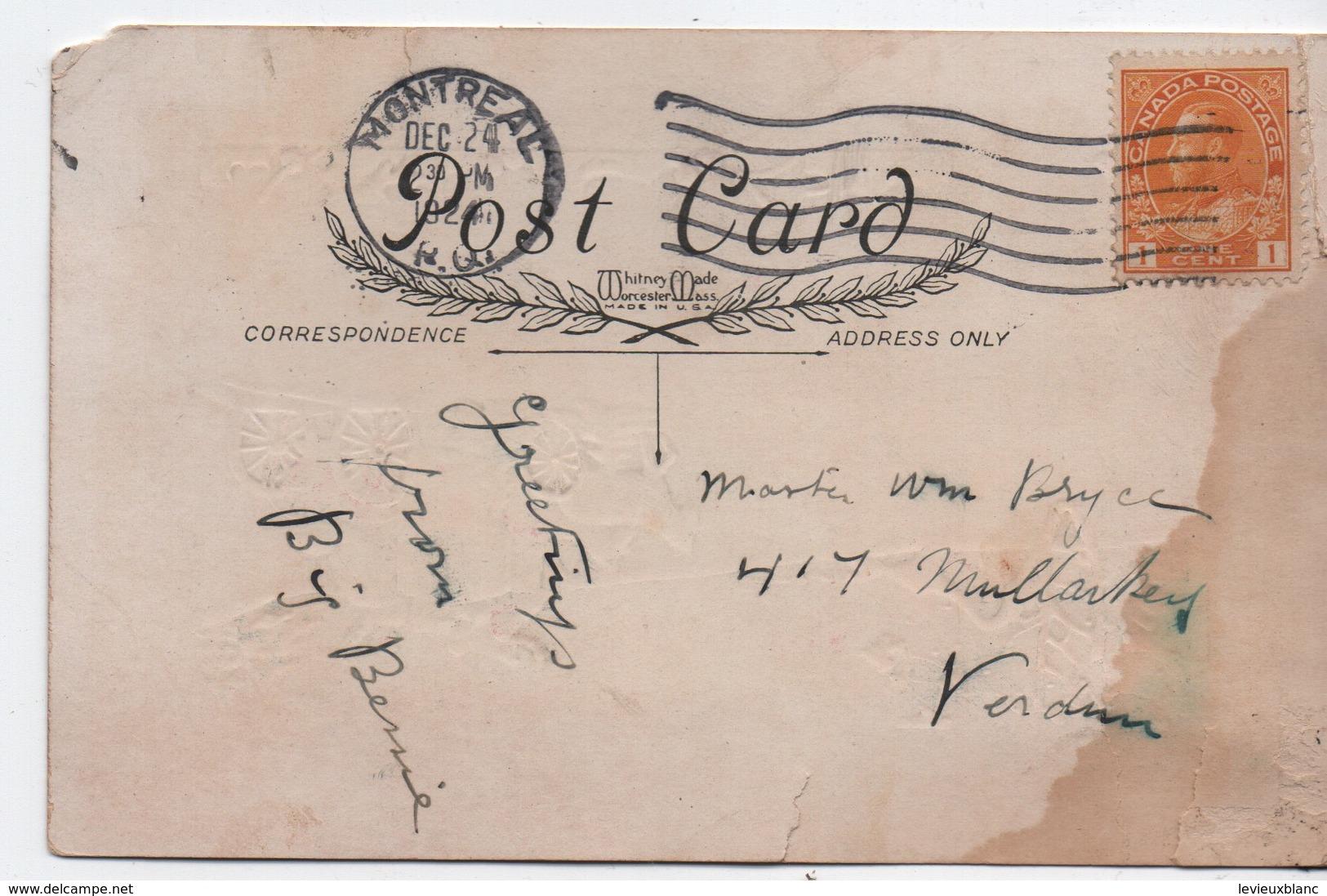 Carte Postale De Voeux/Noël/ Carte Postale/ Canada / Verdun/Diligence Roulant Sous La Neige/ 1924   CVE155 - Año Nuevo