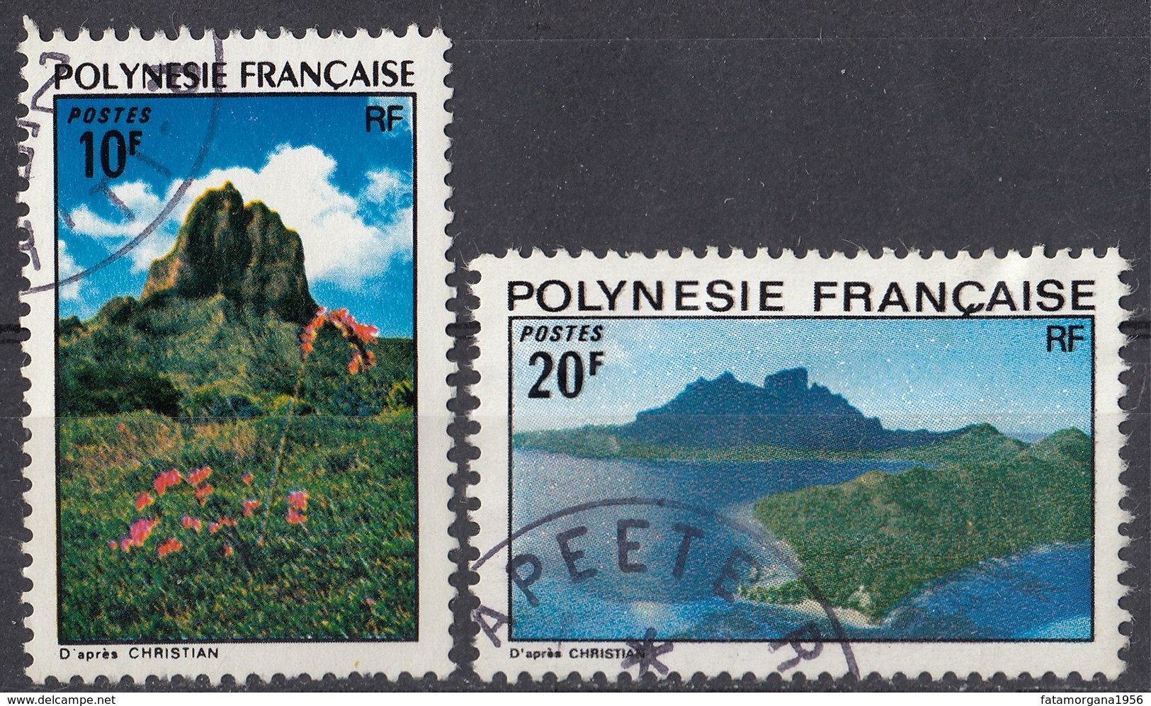 POLYNESIE Française - 1974 - Lotto Di 2 Valori Usati: Yvert 100 E 102. - Polinesia Francese