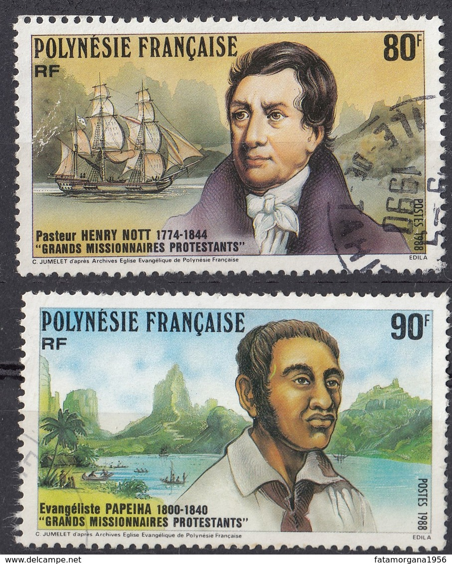 POLYNESIE Française - 1988 - Lotto Di 2 Valori Usati: Yvert 318 E 319. - Usati