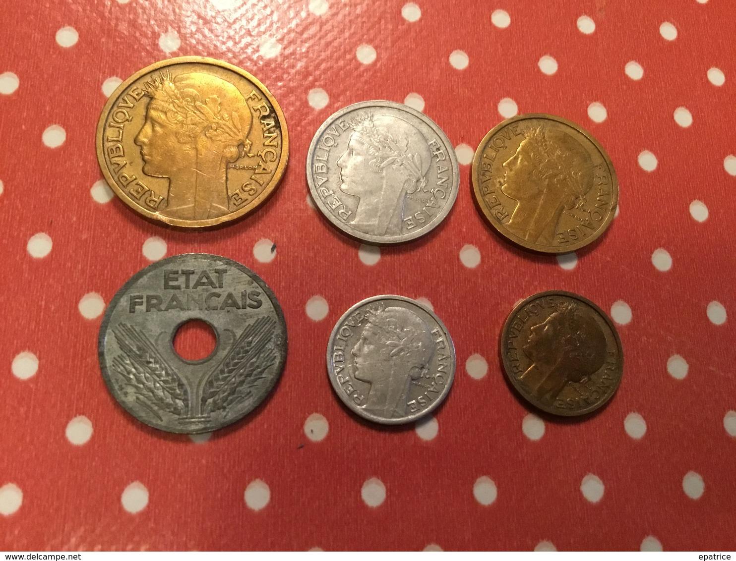 Lot De  6. Pièces Voir Le Scan - Münzen & Banknoten