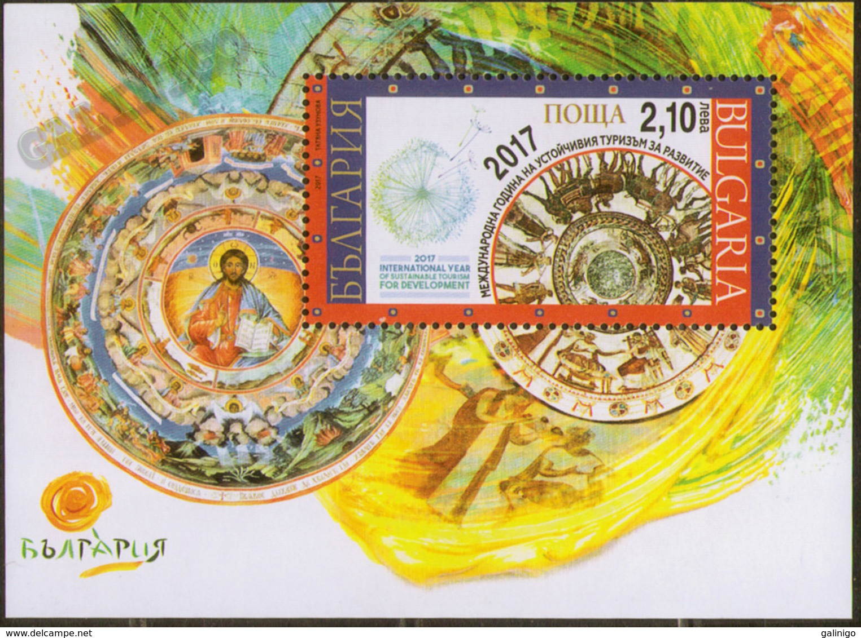 2017 Bulgaria S/S  International Year Of Sustainable Tourism For Development. Religion Art: Fresco From Kazanlak  MNH - Religione