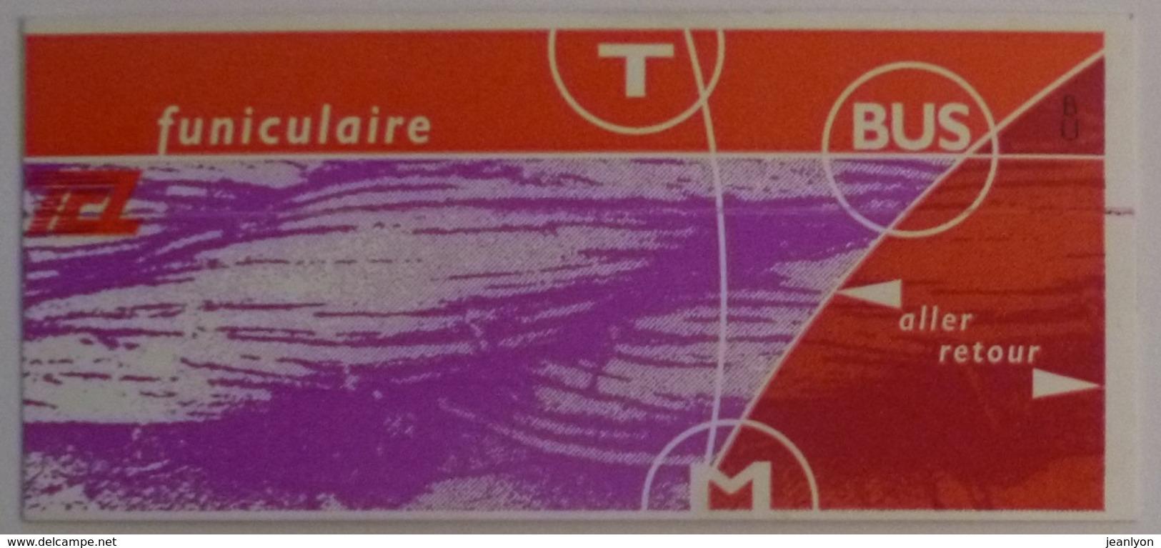 Ticket Funiculaire TCL Lyon (69/Rhône) - Aller Retour / Ticket Oblitéré - Subway