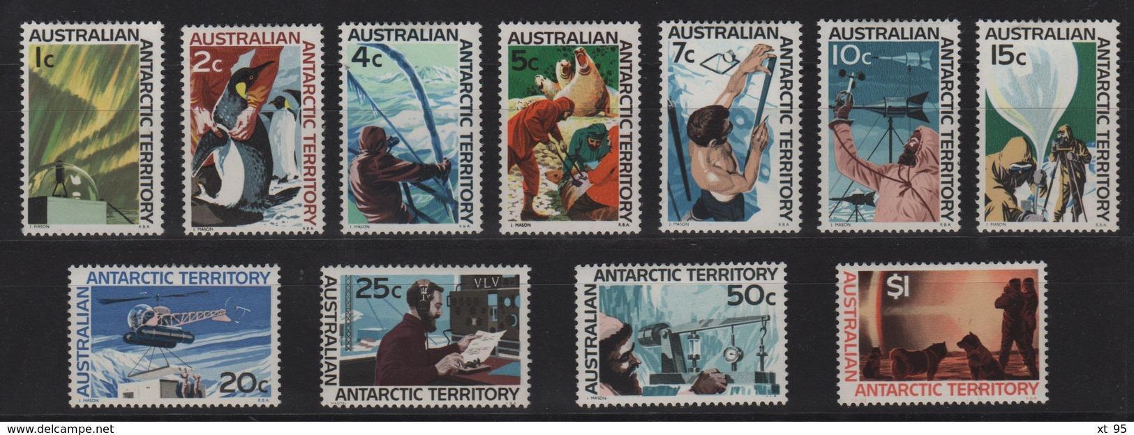 Australie - Territoire Antarctique - N°8 à N°18 - Cote 120€ - * - Neufs Avec Charniere - Australian Antarctic Territory (AAT)