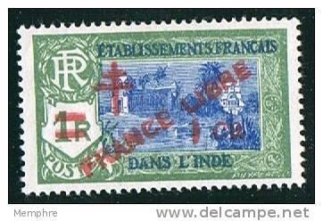 INDE ßurcharge «Croix De Lorraine Et FRANCE LIBRE»  1 Ca Sur 1R Maury  248 * Charnière Légère - Indien (1892-1954)