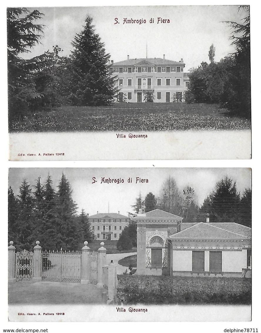 SANT'AMBROGIO   Villa Giouanna  Lot De 2 Cartes  (recto-verso) - Treviso