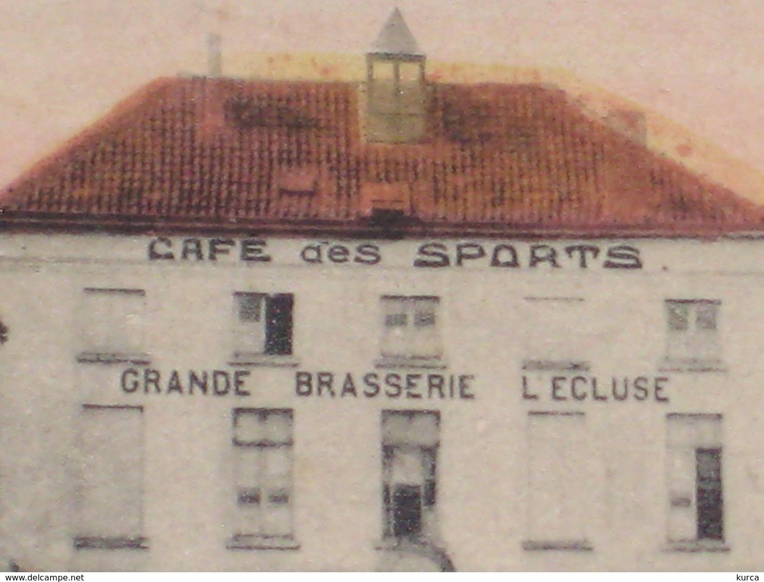 MECHELEN - CAFE DES SPORTS BRASSERIE L'ECLUSE Raghenoplaats - Niet Verstuurd - Uitg. Holemans - Malines