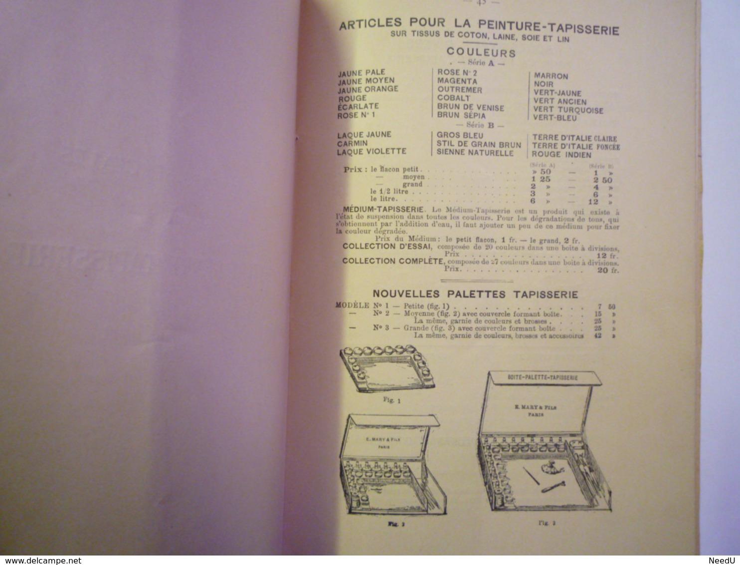 GP 2019 - 1665  La Peinture-Tapisserie + Peinture Eventails Et Ecrans  1891  (56 Pages)    XXX - Old Paper