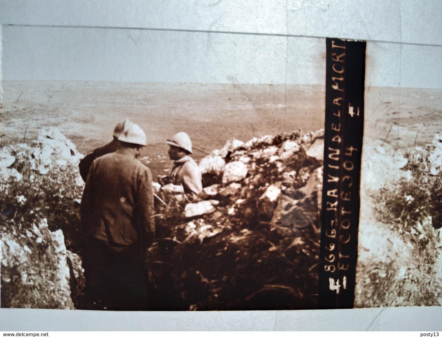 Guerre 1914-18 -  Ravin De La Mort Et Cote 304 - Plaque De Verre StéréoscopiqueTBE - Plaques De Verre
