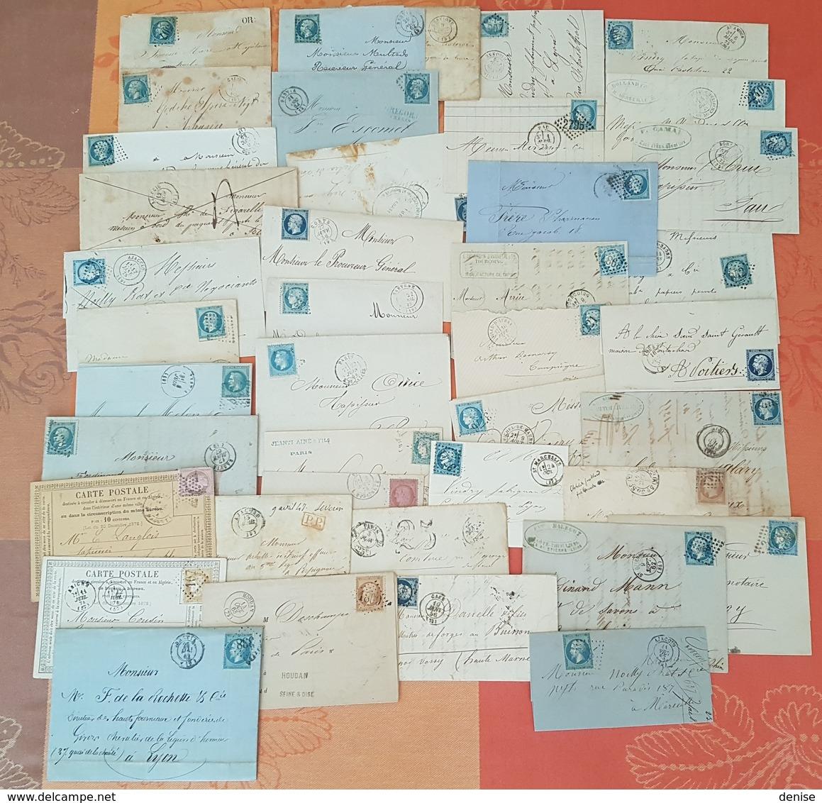 France -Lot De Lettres Classsiques - 41 Pieces - MISE A PRIX 1 EURO - Marcophilie (Lettres)