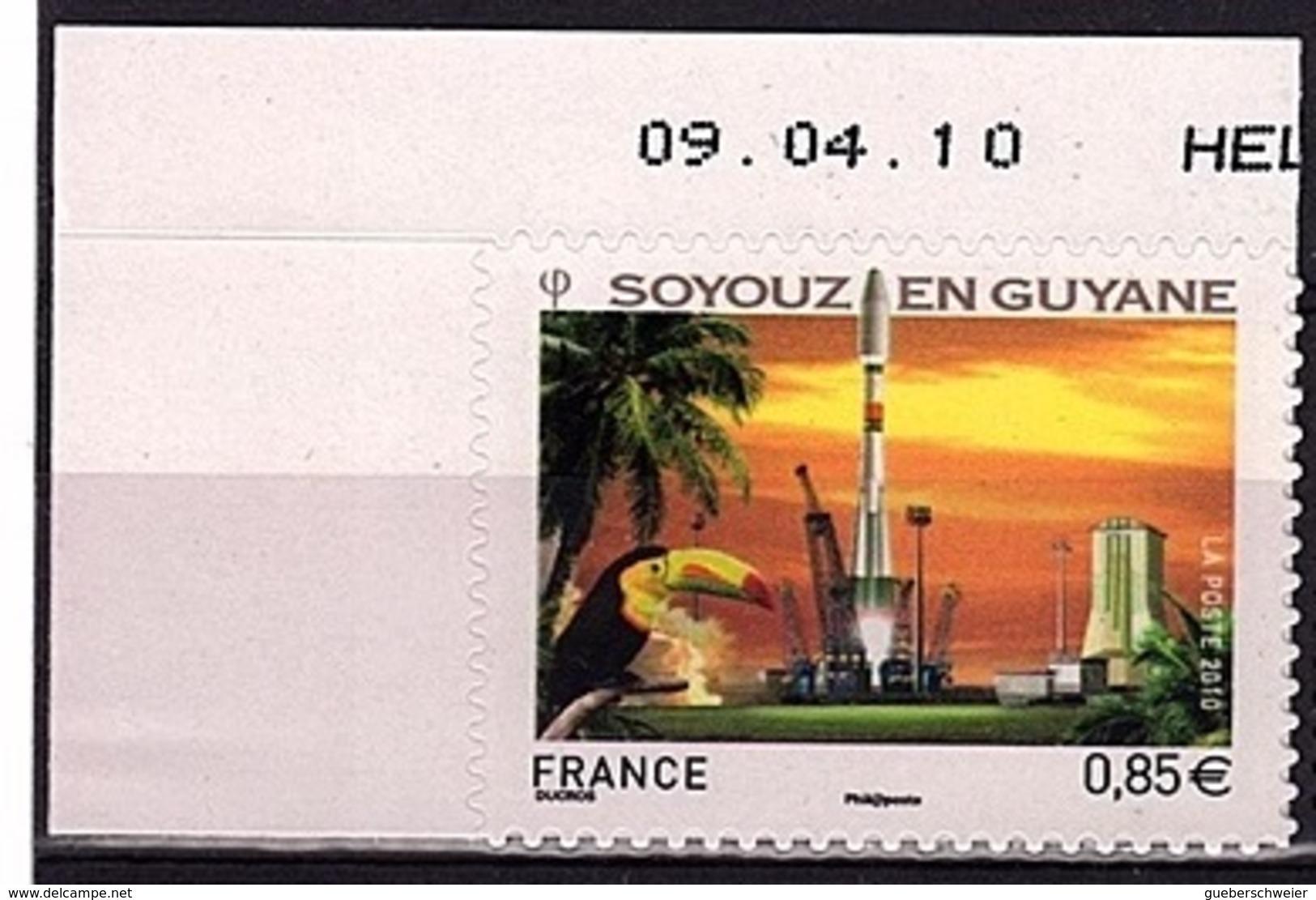 ADH 79 - FRANCE Adhésifs N° 470 Neuf**décollage Fusée Russe Soyouz En Guyane Bdf Daté - Adhésifs (autocollants)