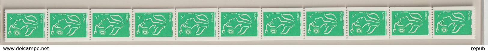 France 2005 Marianne De Lamouche Roulette 3742A En Bande De 11 - Rollen