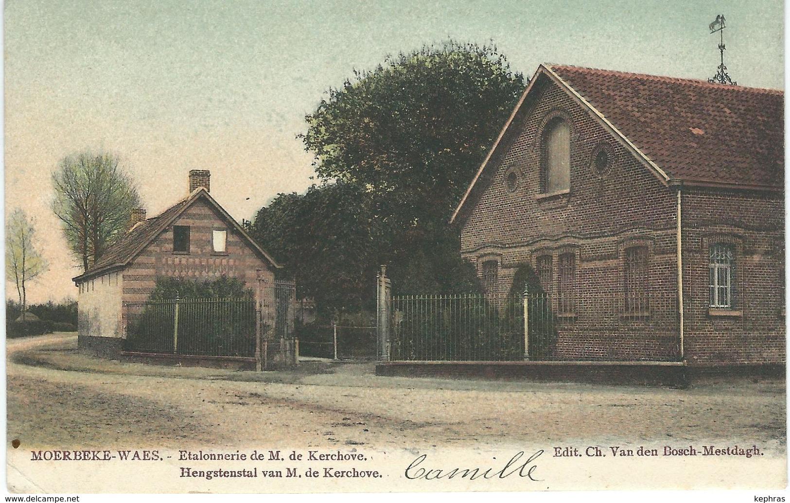 MOERBEKE-WAAS : Etalonnerie De M. De Kerchove - Hengstenstal Van M. De Kerchove - Moerbeke-Waas