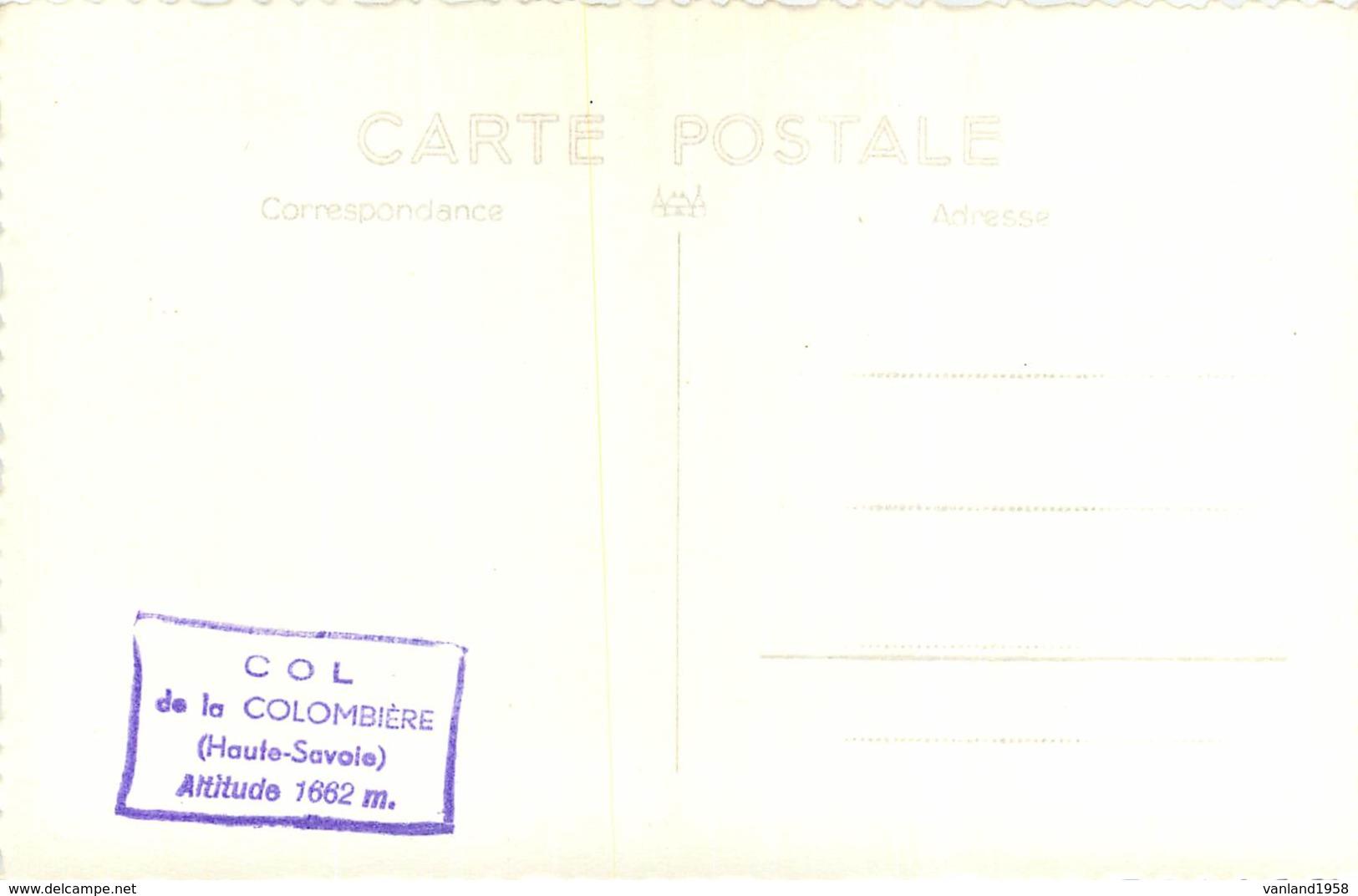 Carte Semie Moderne Petit Format Du COL De La COLOMBIERE - France