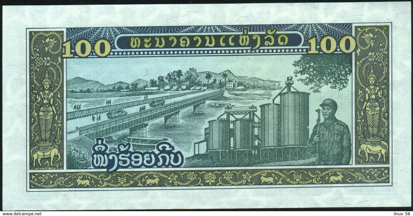 LAO - LAOS - 100 Kip Nd.(1979) UNC P.30 - Laos