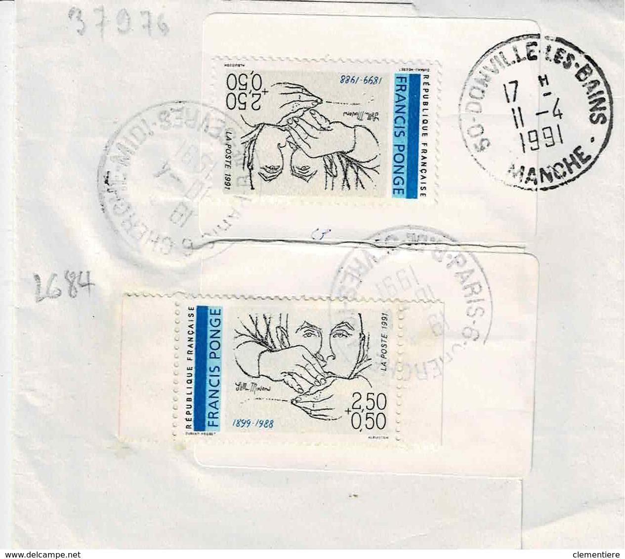 """TP N ° 2684 En 2 Ex Sur Bande Journal """" Convergence De Paris 03 - 1961-...."""