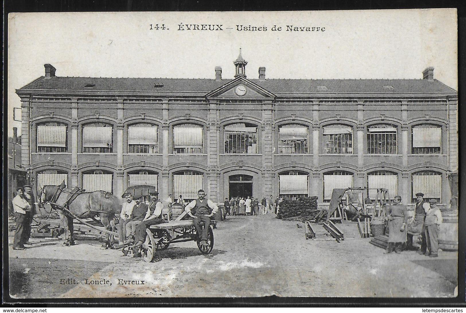 CPA 27 - Evreux, Usines De Navarre - Evreux