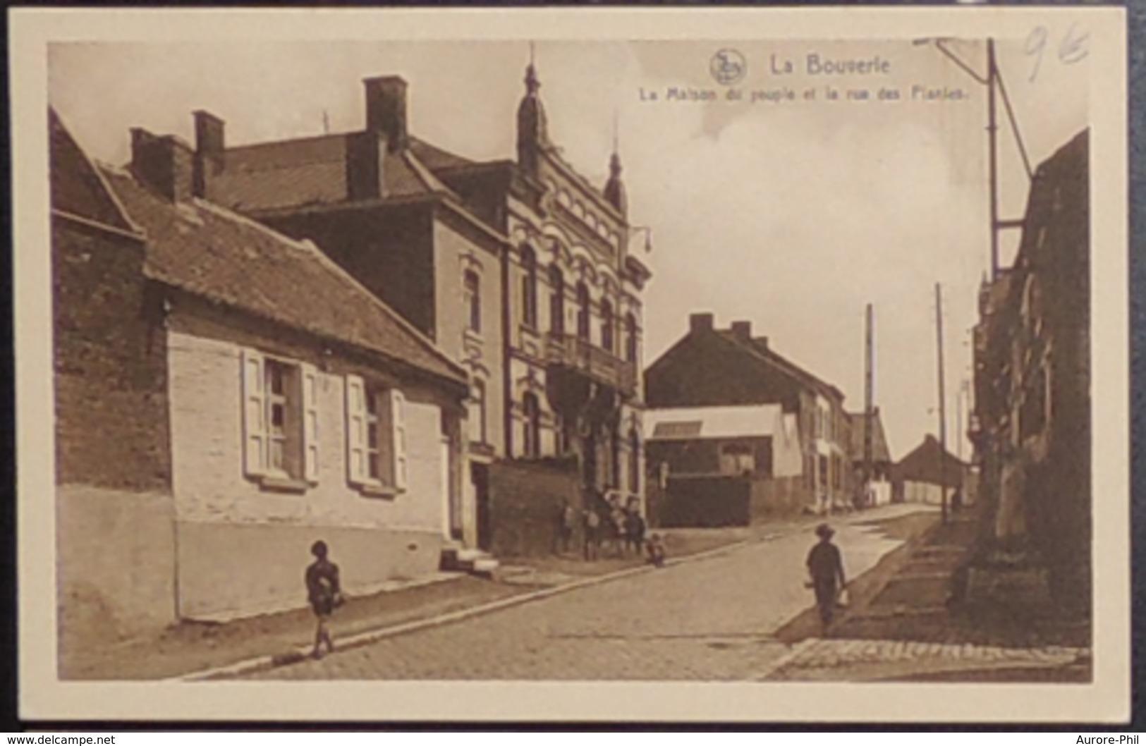 La Bouverie La Maison Du Peuple Et La Rue Des Plantes - Frameries