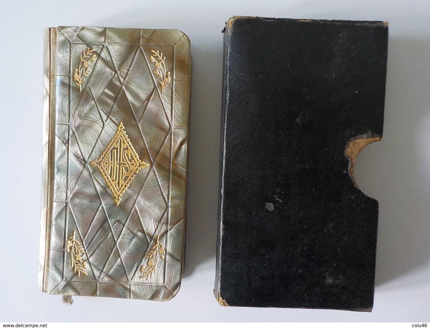 1923 Malines Mechliniae Religion Catholique Petit Missel Couverture Nacre ?? Boîtier Tranches Dorées - Religión & Esoterismo