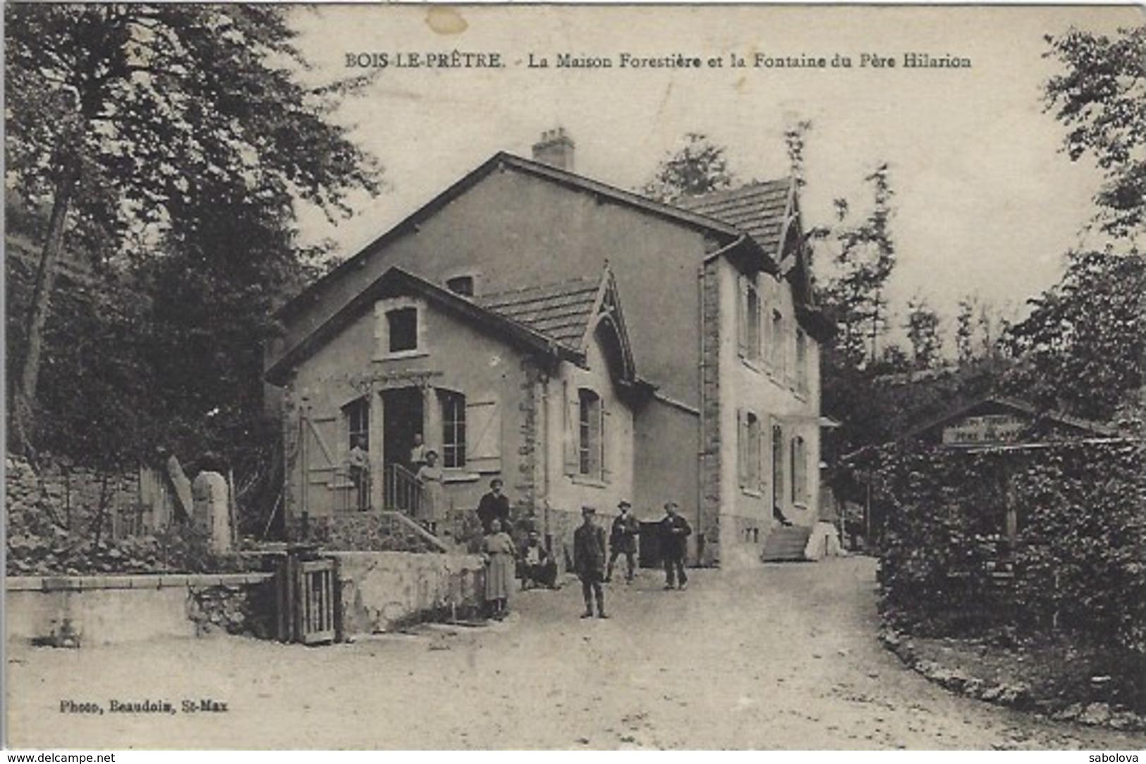 Pont à Mousson Bois Le Prêtre Maison Forestière Et Fontaine Père Hilarion - Pont A Mousson