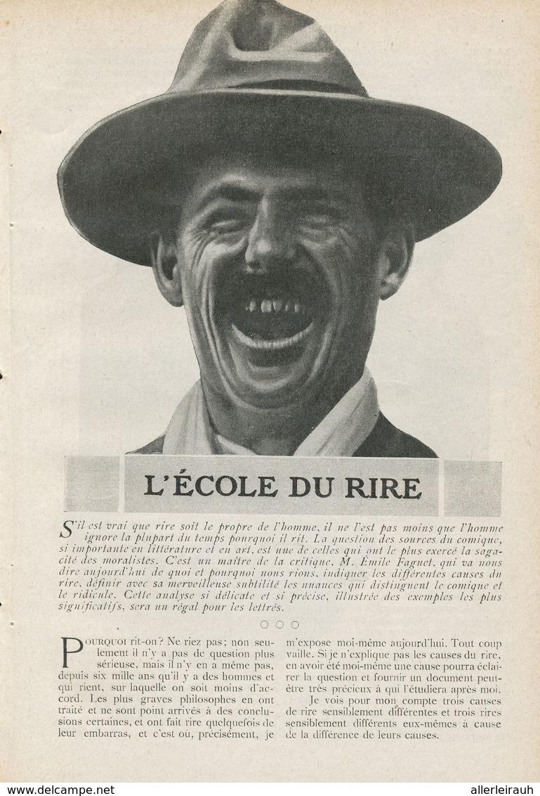 L`école Du Rire /  Article , Pris D`un Magazine / 1911 - Bücher, Zeitschriften, Comics