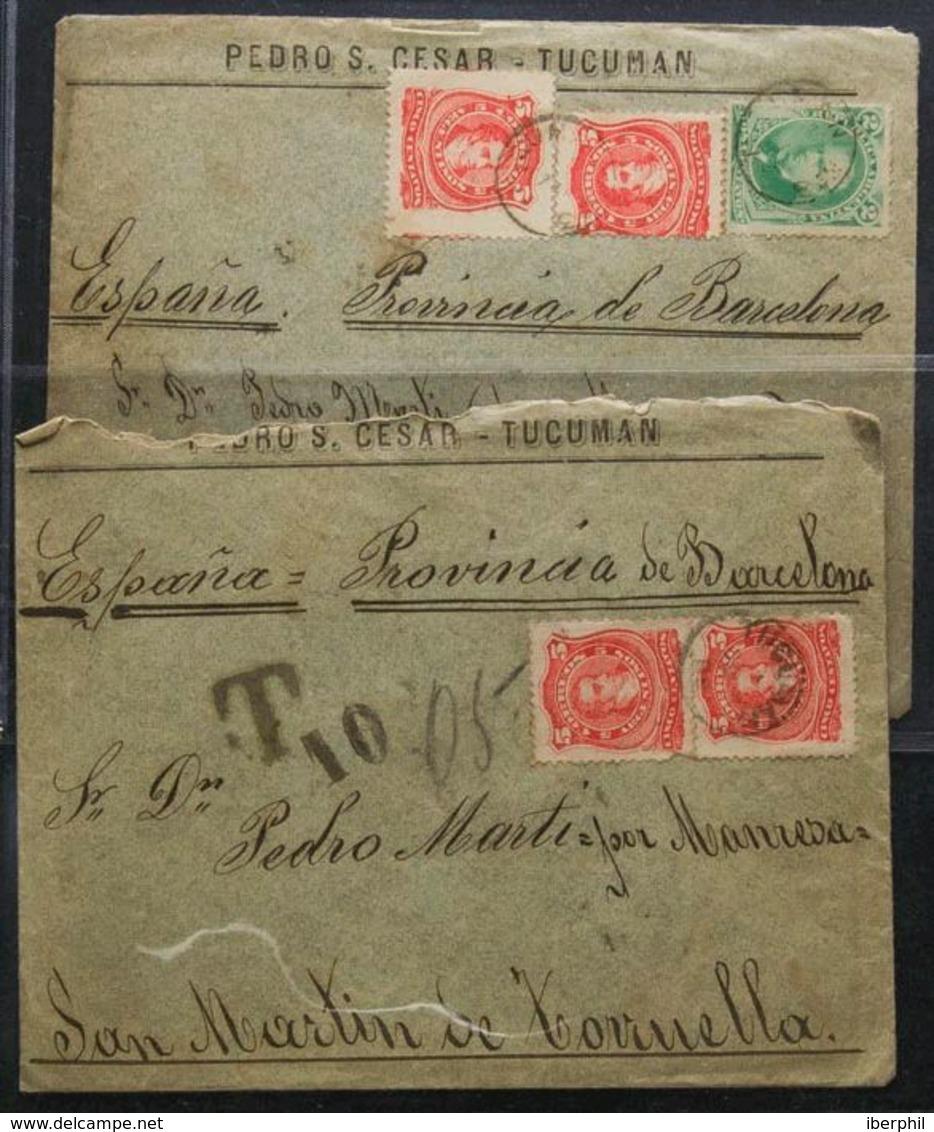 Argentina. SOBRE. (1888ca). Interesante Conjunto De Veinte Cartas Con Origen En TUCUMAN Y BUENOS AIRES, Dirigidas A SAN  - Sin Clasificación