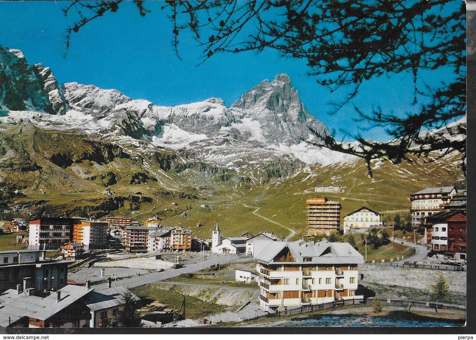 VALLE D'AOSTA - CERVINIA - BREUIL - PANORAMA - SCRITTA AL RETRO E DATATA 1965 - Italia