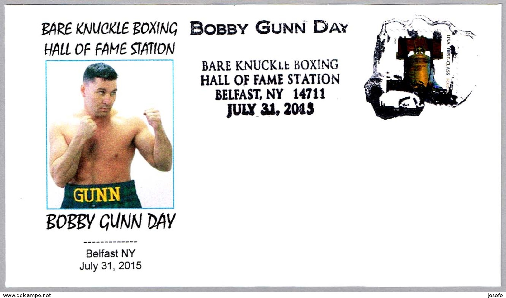 Bare Knuckle Boxing Hall Of Fame - BOBBY GUNN DAY. Boxeo - Boxing. Belfast NY 2015 - Boxeo