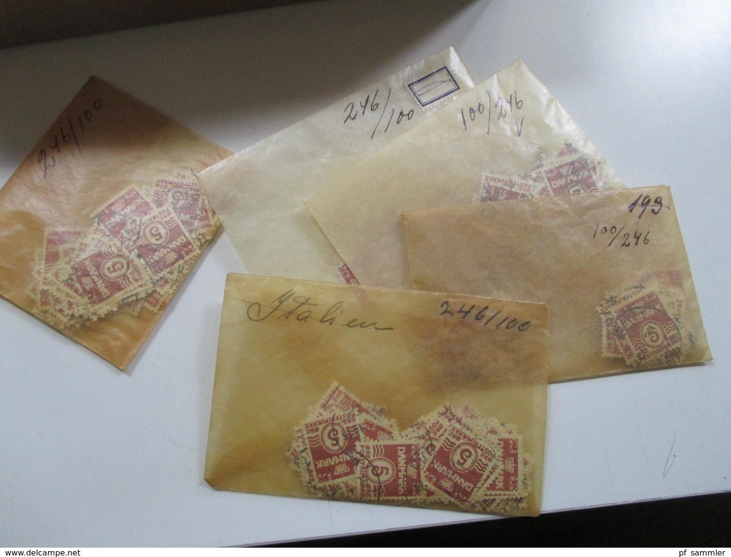 Alter Tütenposten Dänemark 1950/60er Jahre Freimarken! Tausende Marken! Gestempelt. Auch Paare!! Fundgrube!! Ca. 15000st - Briefmarken