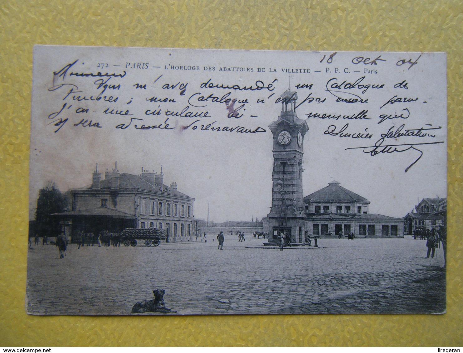 PARIS. L'Horloge Des Abattoirs De La Villette. - Arrondissement: 19