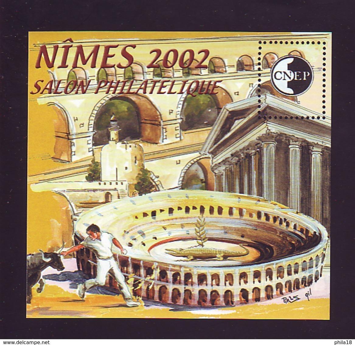 BLOC CNEP 2002 N° 36 - NIMES SALON PHILATELIQUE TOREADOR TAUREAU - CNEP