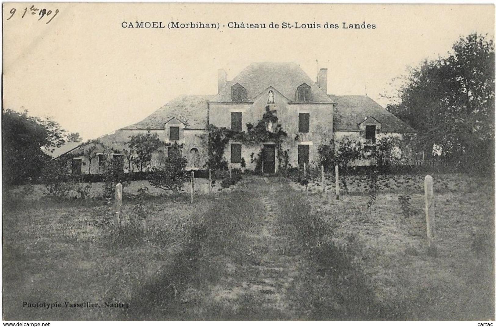 D56 - CAMOEL - CHÂTEAU DE ST LOUIS DES LANDES - Autres Communes