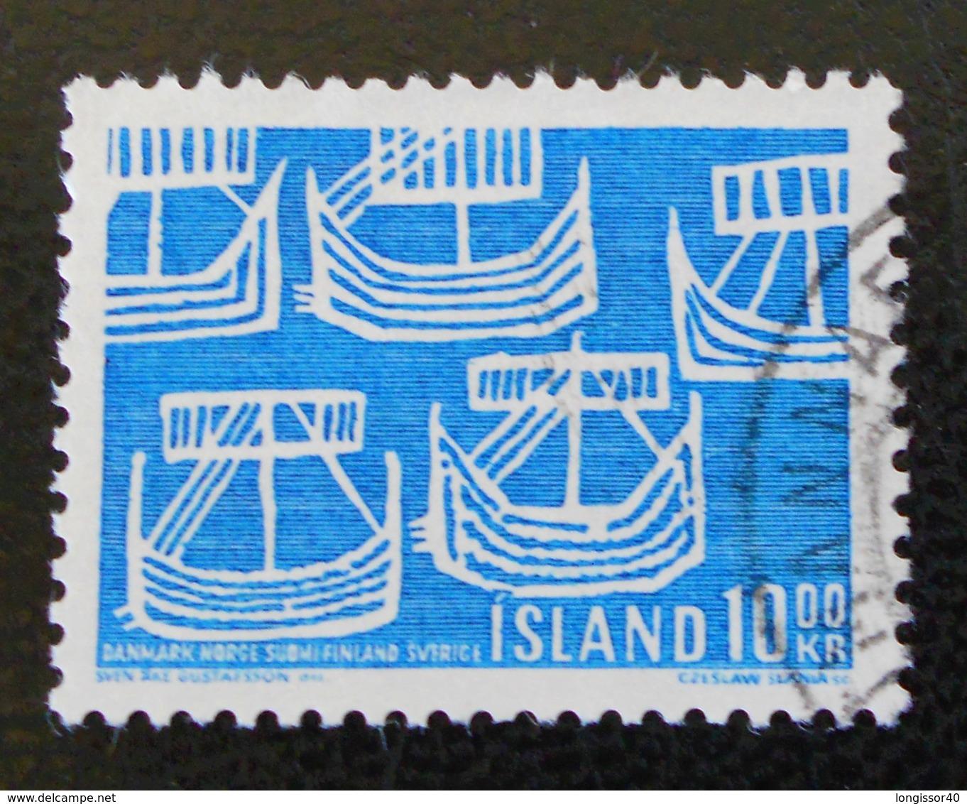 100 ANS DE LA COMMUNAUTE SCANDINAVE 1969 - OBLITERE - YT 382 - MI 427 - 1944-... Republique