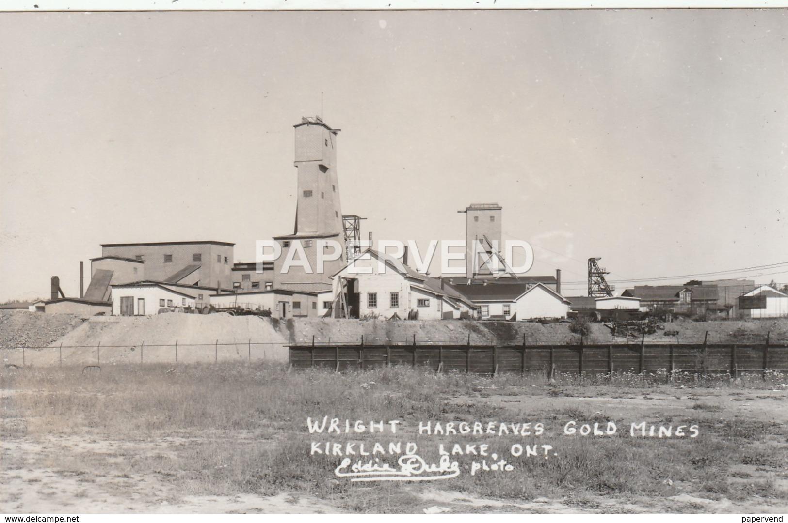 Canada  ONTARIO Wright Hargreaves Gold Mines Kirkland Lake   RP Ca101 - Québec - Les Rivières