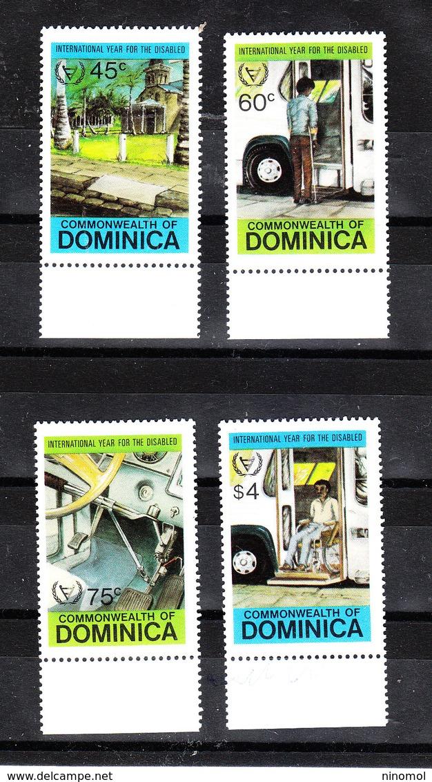 Dominica  - 1981. Anno Dell' Handicap.Serie Completa. Year Of Handicap. Complete MNH. Series - Handicap