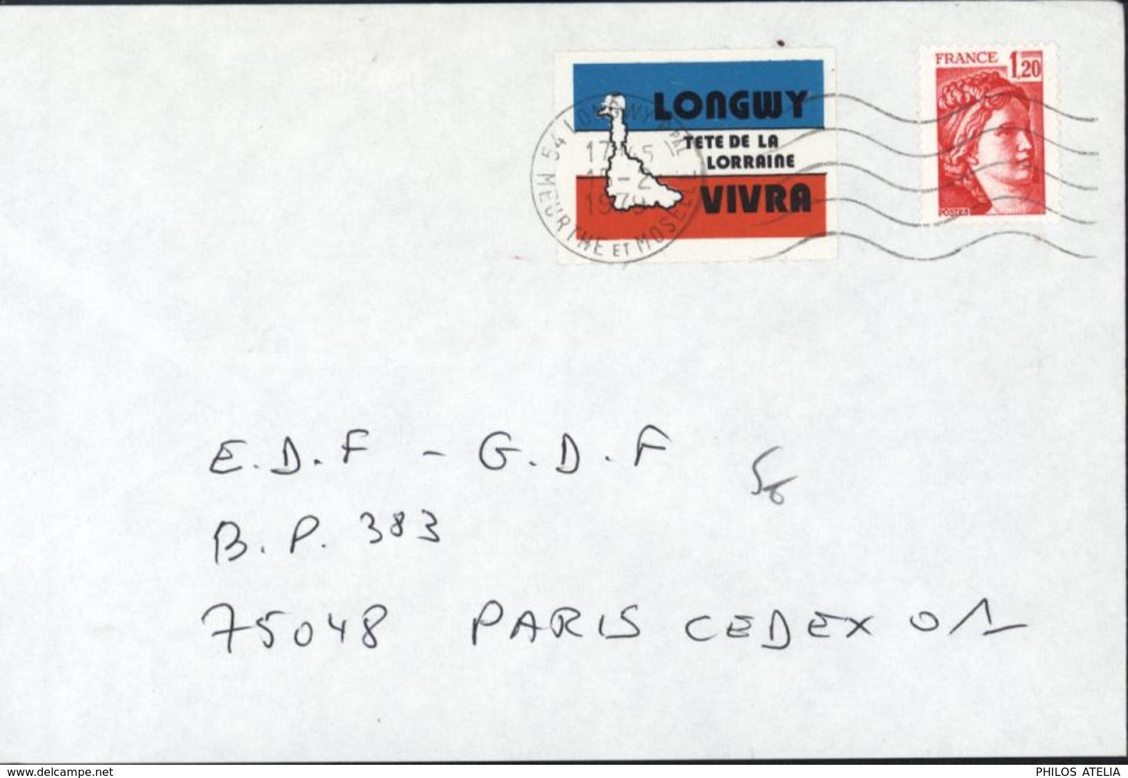 YT Sabine Gandon N° 1974 Vignette Longwy Tête De Lorraine Vivra Acieries Lutte Syndicale Ouvrière 15 2 1979 - 1961-....