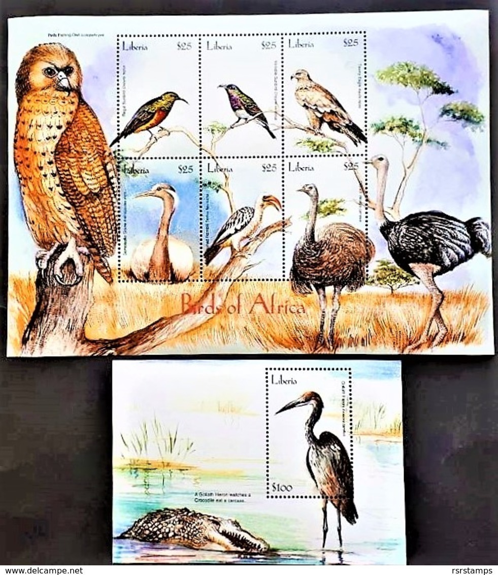 # Liberia 2001**Mi.4284-89 + Bl.438 Birds Of Africa , MNH [15;162] - Vögel