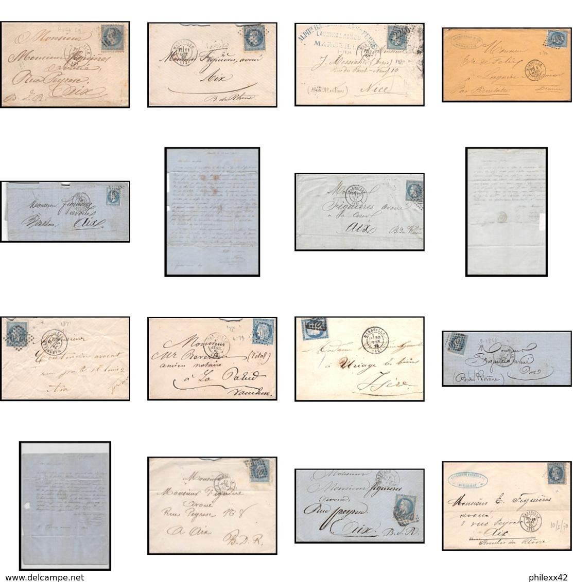 6726 Lot De 13 Lettres Cover Bouches Du Rhone Marseille Napoléon Cérès.. - Francia