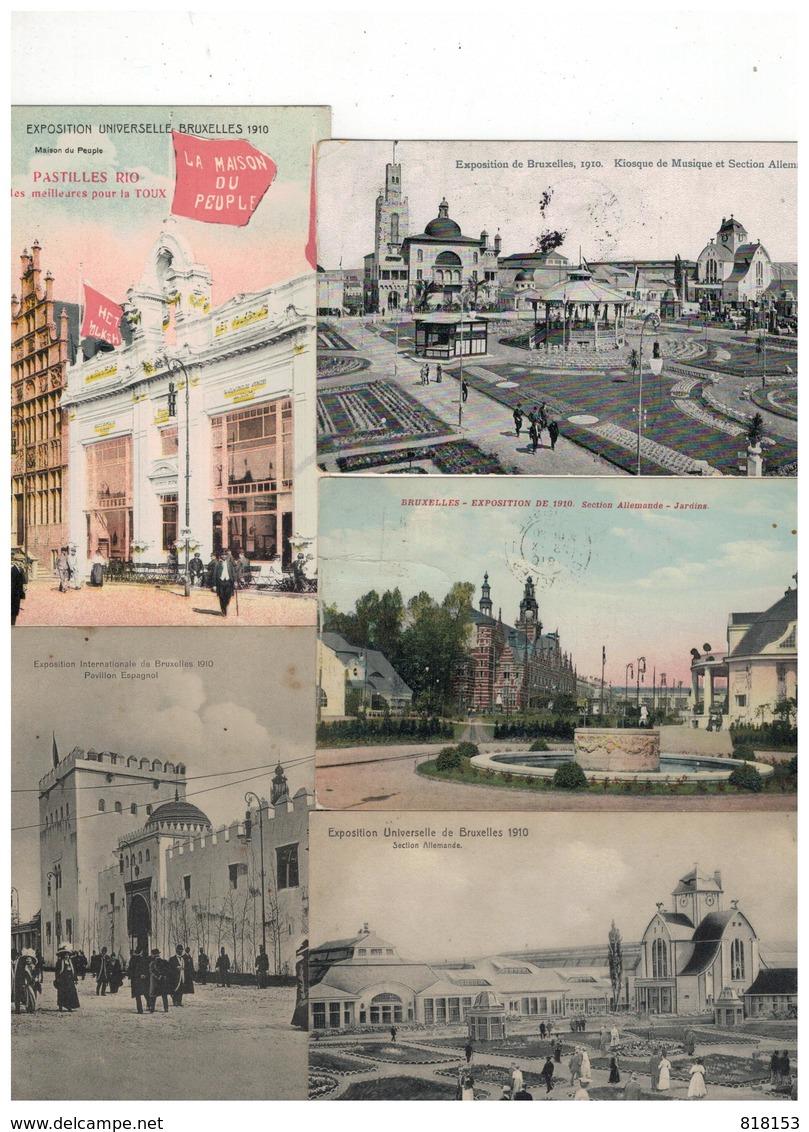 Brussel-Bruxelles 46 Oude Postkaarten EXPOSITION UNIVERSELLE 1910 - Cartes Postales