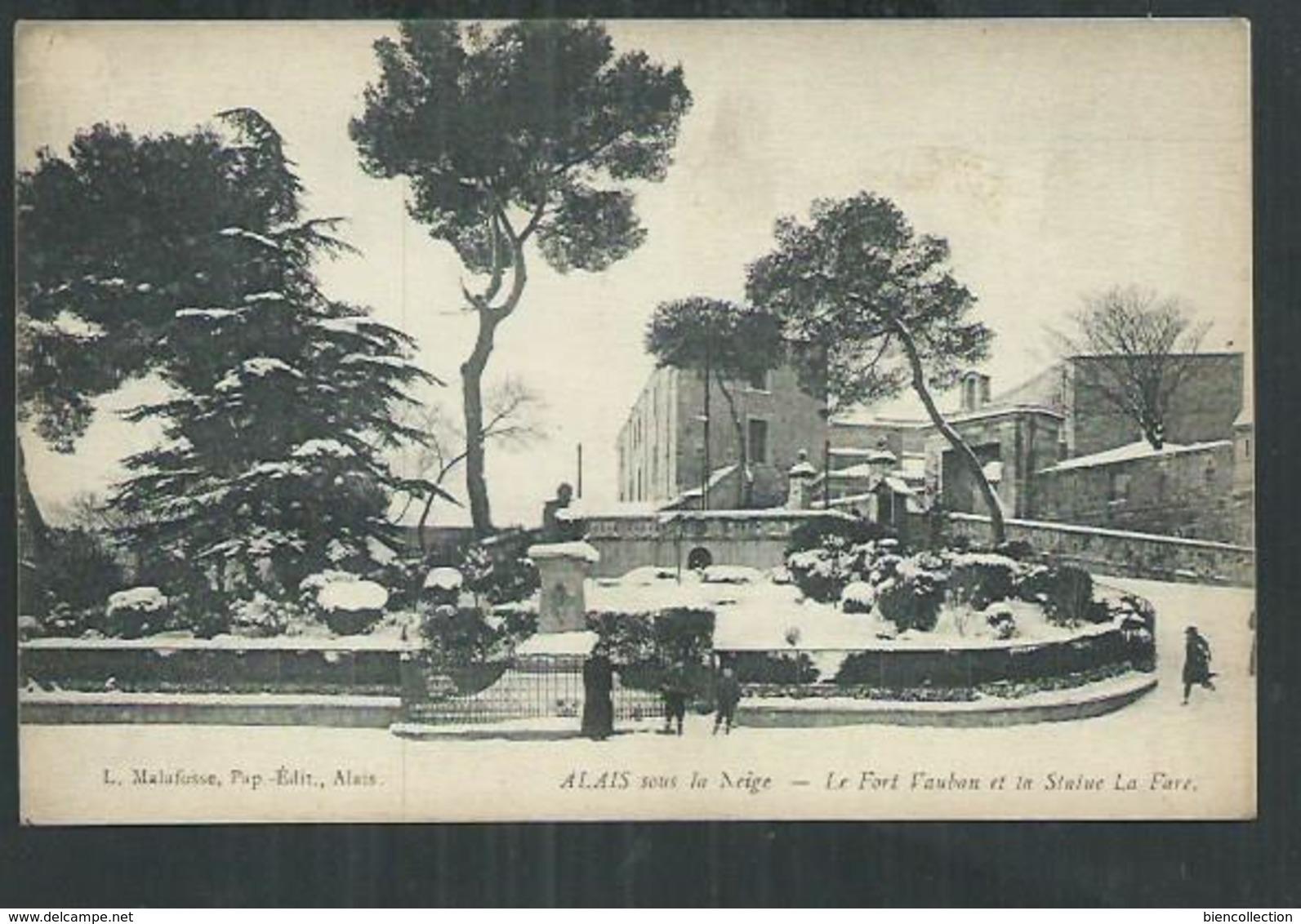Gard. Alès Sous La Neige , Le Fort Vauban - Alès
