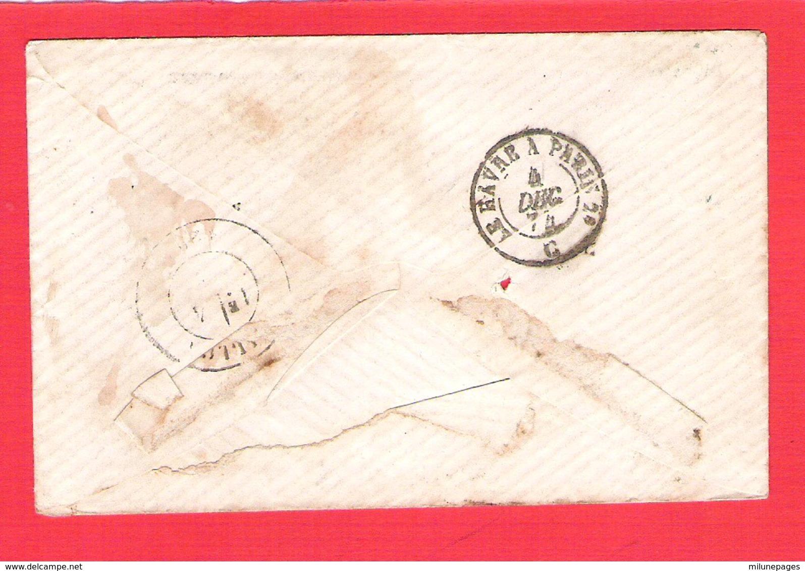Lettre ELBEUF  GC 1386 Sur 20c. Céres Dentelé  + OR - Postmark Collection (Covers)