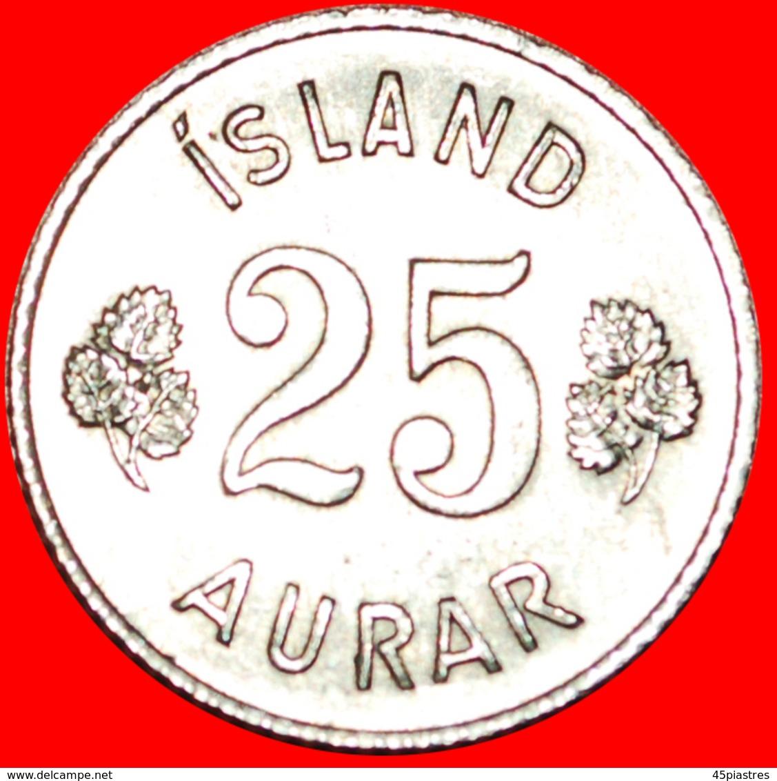+ GREAT BRITAIN BIRCH (1946-1967): ICELAND ★ 25 ORE 1967 MINT LUSTER! LOW START ★ NO RESERVE! - Islandia