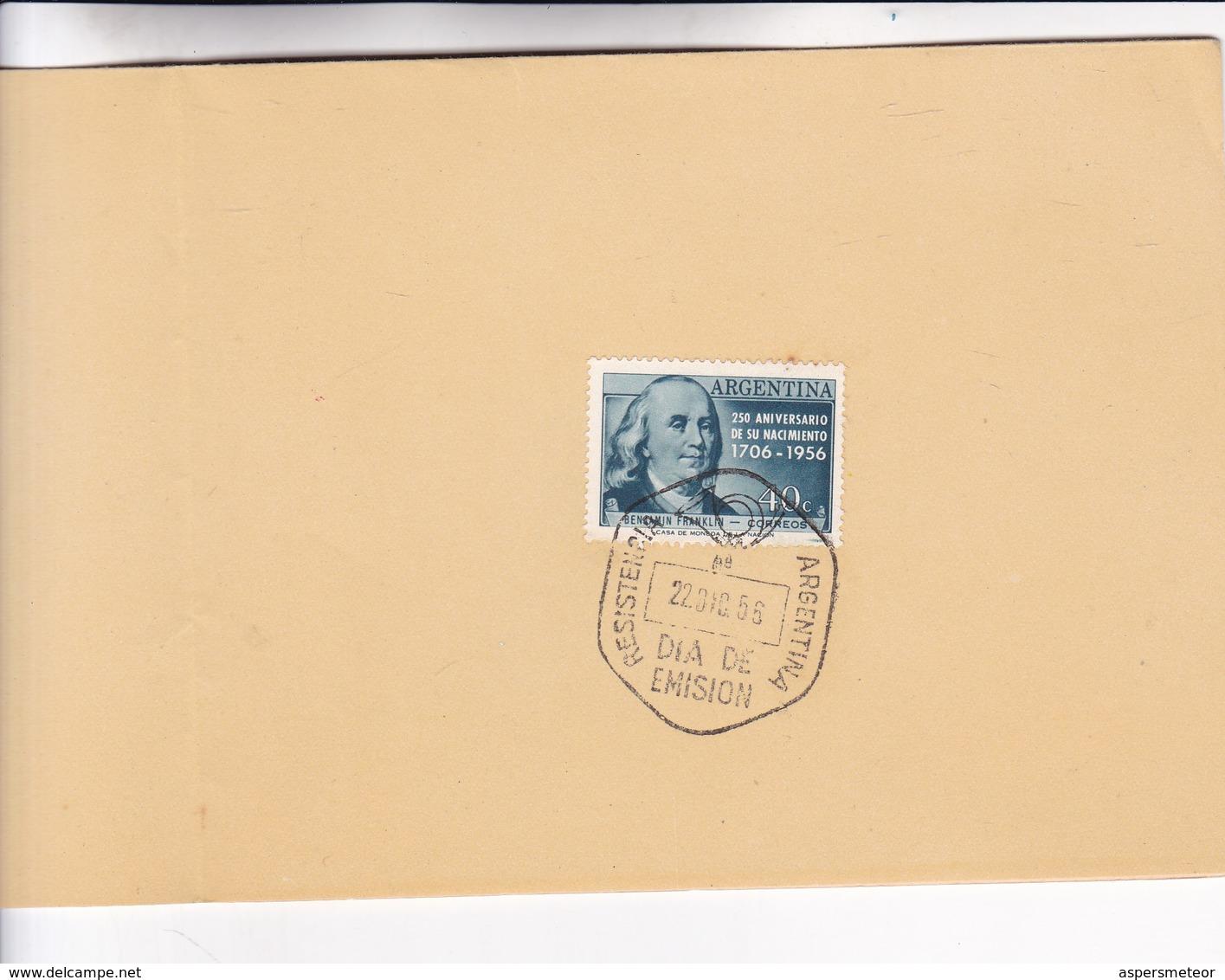 1956 FDC CARD ARGENTINE- POTRILLO MALACARA. ELEODORO MARENCO  - BLEUP - Arte