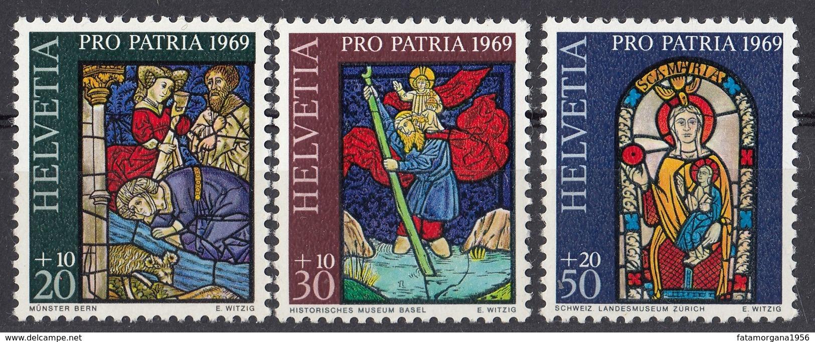 HELVETIA - SUISSE - SVIZZERA - 1969 - Lotto Di 3 Valori Nuovi MNH: Yvert 835/837; Pro Patria. - Pro Patria
