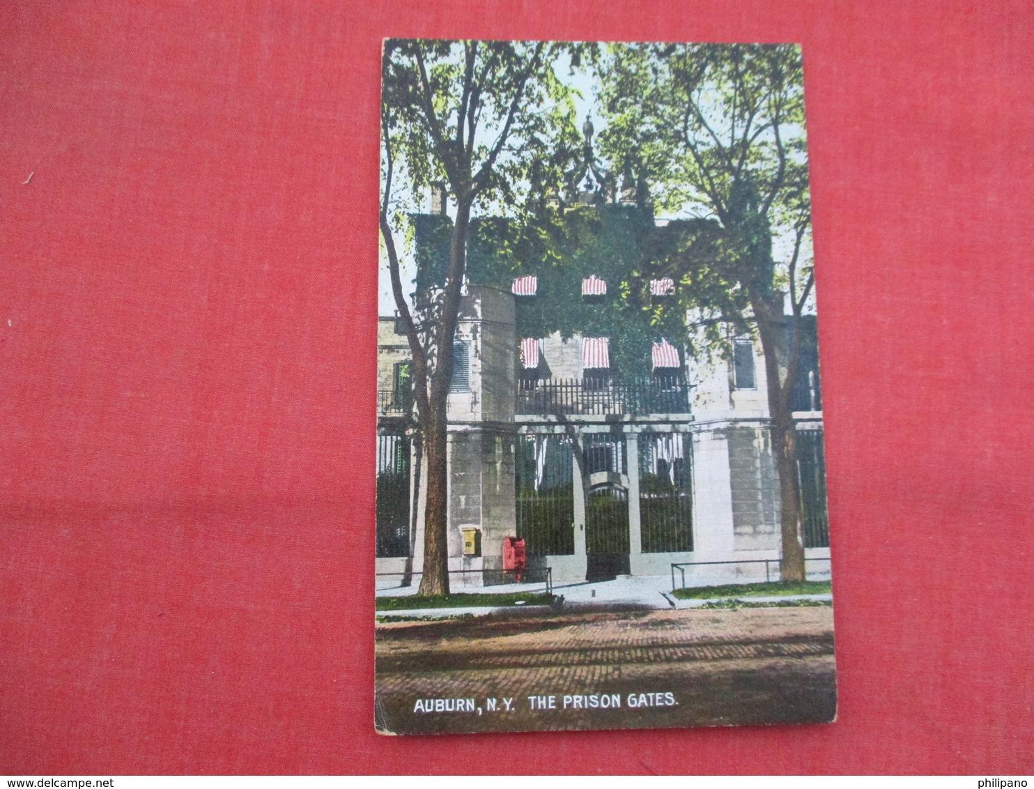 Prison Gates  Auburn NY     Ref  3458 - Prison