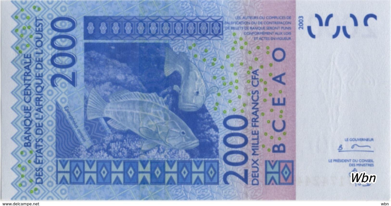 Togo 2000 Francs (P816T) Letter T 2004 -UNC- - Togo